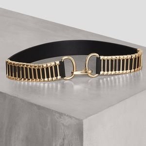 BCBGMAXAZRIA Reversible Metal Bar Belt
